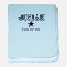 Name Team - Josiah baby blanket