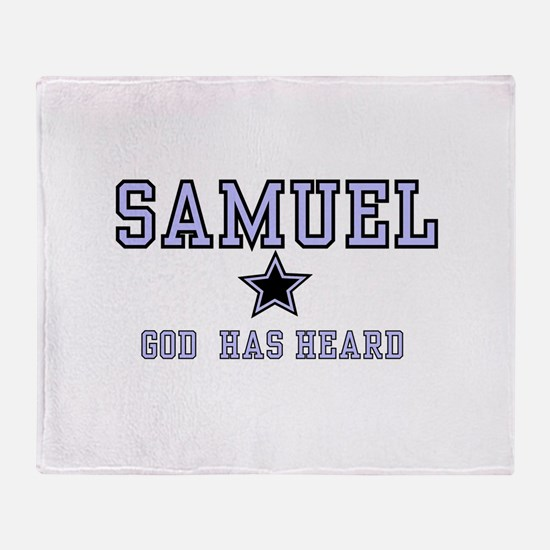 Samuel - Name Team Boy Throw Blanket