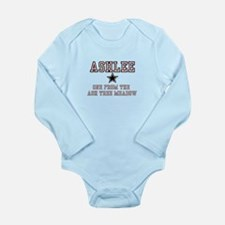 Ashlee - Name Team Long Sleeve Infant Bodysuit