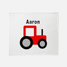 Aaron - Red Tractor Throw Blanket
