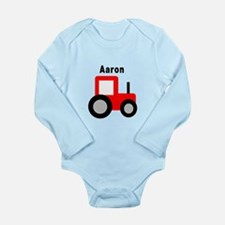 Aaron - Red Tractor Long Sleeve Infant Bodysuit