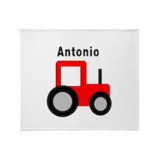 Antonio - Red Tractor Throw Blanket
