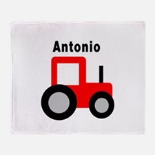 Antonio - Red Tractor Throw Blanket