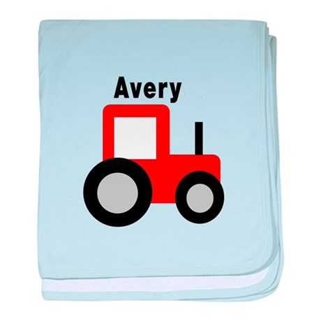 Avery - Red Tractor baby blanket