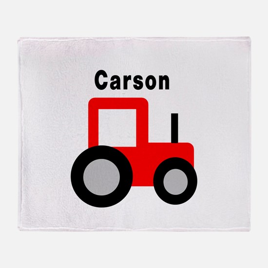 Carson - Red Tractor Throw Blanket