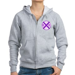 Railroad Crossing Circle Zip Hoodie