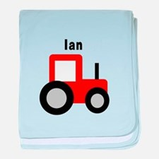 Ian - Red Tractor baby blanket