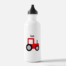 Ian - Red Tractor Water Bottle