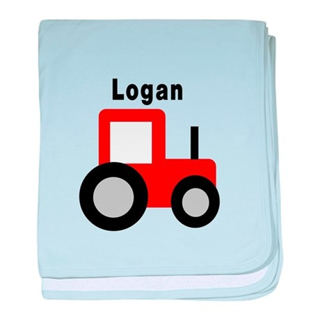 Logan - Red Tractor baby blanket