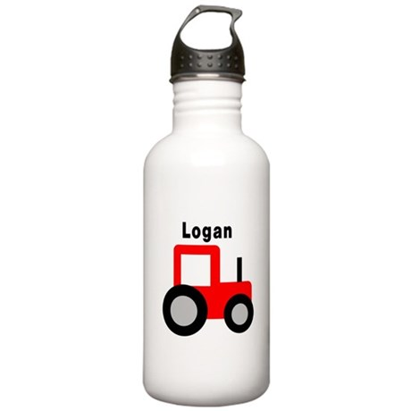 Logan - Red Tractor Stainless Water Bottle 1.0L