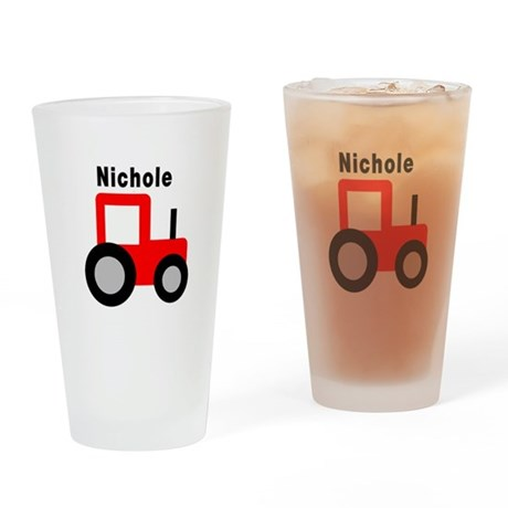 Nichole - Red Tractor Pint Glass