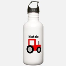 Nichole - Red Tractor Water Bottle