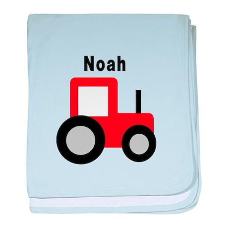 Noah - Red Tractor baby blanket