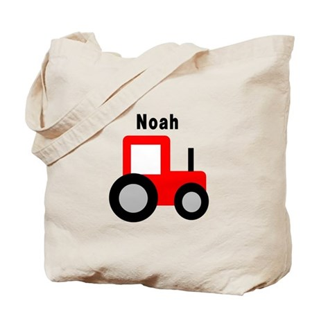 Noah - Red Tractor Tote Bag