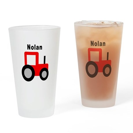 Nolan - Red Tractor Pint Glass