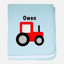 Owen - Red Tractor baby blanket