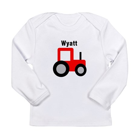 Wyatt - Red Tractor Long Sleeve Infant T-Shirt