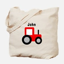 John - Red Tractor Tote Bag