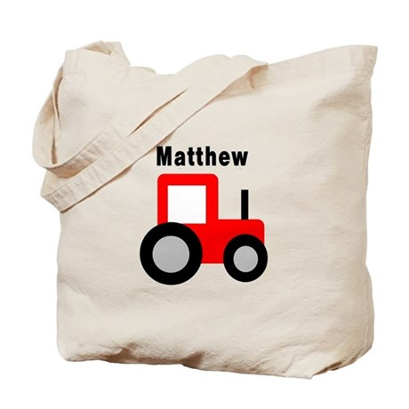 Matthew - Red Tractor Tote Bag