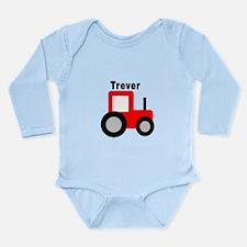 Trever - Red Tractor Long Sleeve Infant Bodysuit