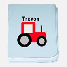 Trevon - Red Tractor baby blanket