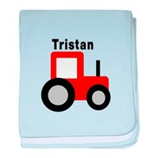 Tristan - Red Tractor baby blanket