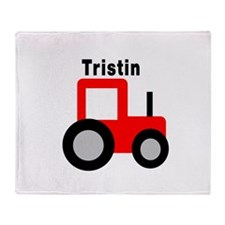 Tristin - Red Tractor Throw Blanket