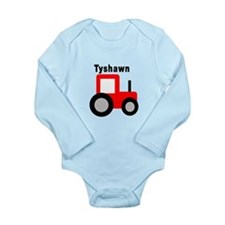 Tyshawn - Red Tractor Long Sleeve Infant Bodysuit