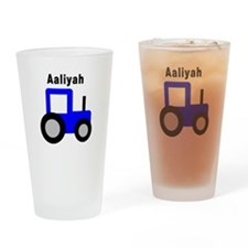 Aaliyah - Blue Tractor Pint Glass