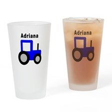 Adriana - Blue Tractor Pint Glass