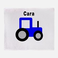 Cara - Blue Tractor Throw Blanket