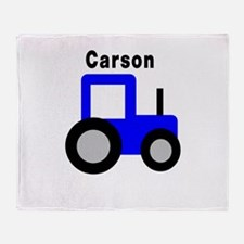Carson - Blue Tractor Throw Blanket