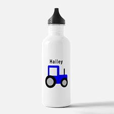 Hailey - Blue Tractor Water Bottle