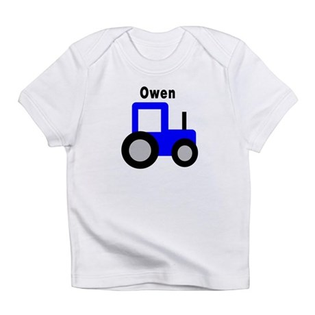 Owen - Blue Tractor Personali Infant T-Shirt