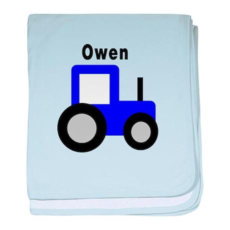 Owen - Blue Tractor Personali baby blanket