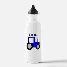 Logan - Blue Tractor Personal Water Bottle
