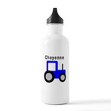 Cheyenne - Blue Tractor Water Bottle
