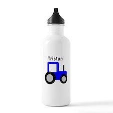 Tristan - Blue Tractor Water Bottle