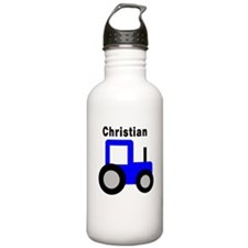 Christian - Blue Tractor Water Bottle
