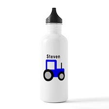 Steven - Blue Tractor Water Bottle