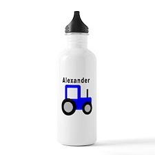 Alexander - Blue Tractor Water Bottle