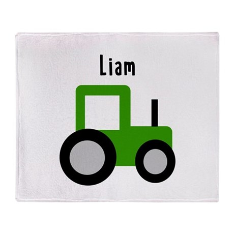 Liam - Green Tractor Throw Blanket