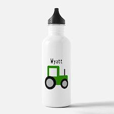 Wyatt - Green Tractor Water Bottle