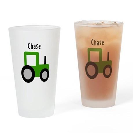 Chase - Green Tractor Pint Glass