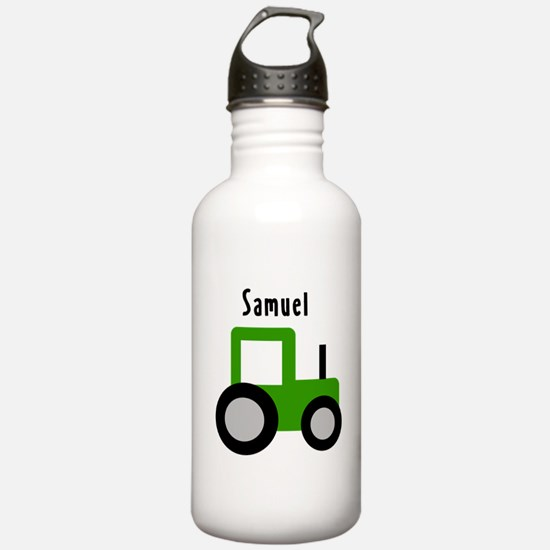 Samuel - Green Tractor Water Bottle