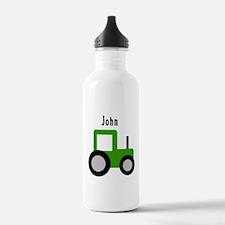 John - Green Tractor Water Bottle