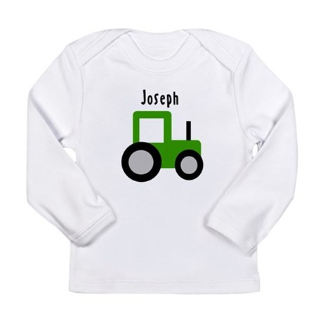 Joseph - Green Tractor Long Sleeve Infant T-Shirt