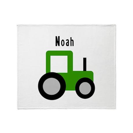 Noah - Green Tractor Throw Blanket
