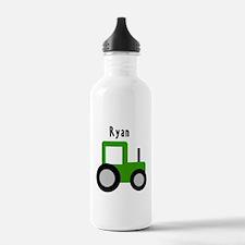 Ryan - Green Tractor Water Bottle