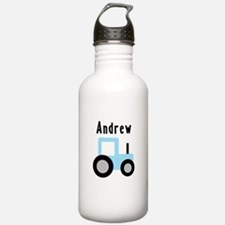 Andrew - Baby Blue Tractor Water Bottle